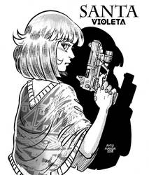 Santa Violeta, and his GUN by Fytomanga