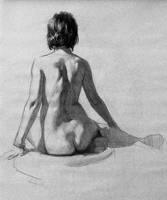 Feminine Back Study by AztcFireFlower