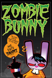 zombie bunny by dokrobei