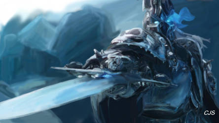 Arthas Menethil - The Lich King Coloured by SaturnStormXD