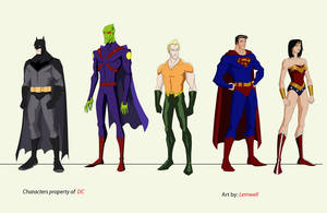 Justice League set 1 by Lemwell