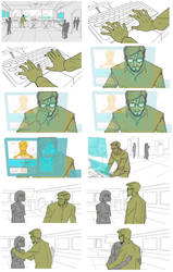 Storyboard sequence by Lemwell