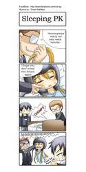 SAO 4koma - Sleeping PK by GreenTeaNeko