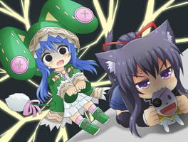 Yoshino vs Tohka by GreenTeaNeko