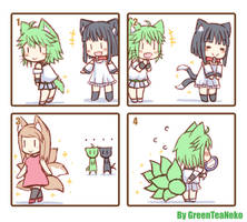 MonGirl 4koma 4 by GreenTeaNeko