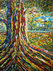 Colour Tree II by NancyvandenBoom