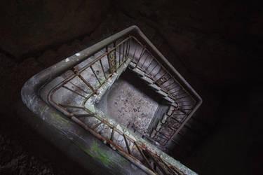 illuminated stairs by schnotte