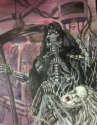 Dehumanizer drawing by ozzedeth