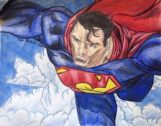 Superman by ozzedeth