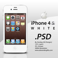 Apple iPhone 4S White .PSD by zandog
