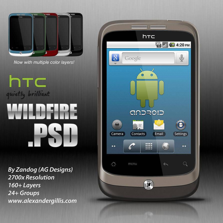 HTC Wildfire .PSD by zandog