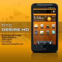 HTC Desire HD .PSD by zandog