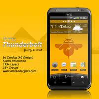 HTC Thunderbolt .PSD by zandog