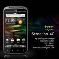 HTC Sensation 4G .PSD by zandog