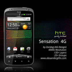 HTC Sensation 4G .PSD by zandog