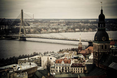Riga, River and Bridge by AmniosDesign