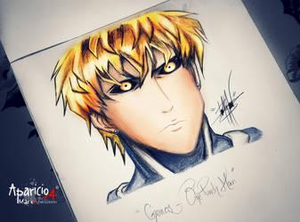 Genos draw - One Punch Man by Aparicio94