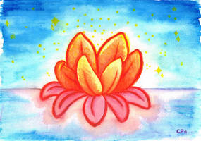Watercolor Waterlily by lille-cp