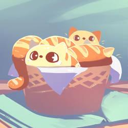 Milk Bread Cat by Ma-n