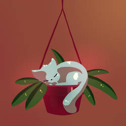 Cat in a pot. by Ma-n