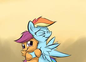 Compensational hugs by BluestreakFUS