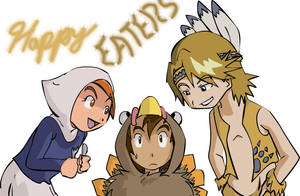 Digimon: Happy Thanksgiving by Shigerugal