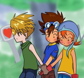 Digimon: OT3 - Move it by Shigerugal