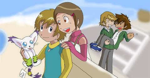 Digimon: Yamachi and Takari by Shigerugal