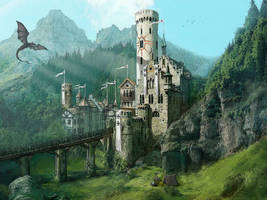Castle in the mountains by kTornehave