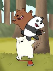 We Bare Bears by kuki4982