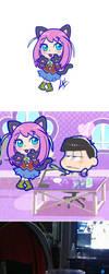 Nyaa chan chibi Tabimatsu style by kuki4982
