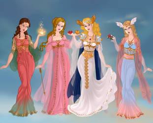 Work on Valentine's Day:Goddesses of love by AkhillesY