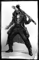 Cyberpunk concept art caracter by DarkEnter