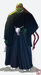 MNTGaiden!Raph in traditional japanese clothing by sombermun