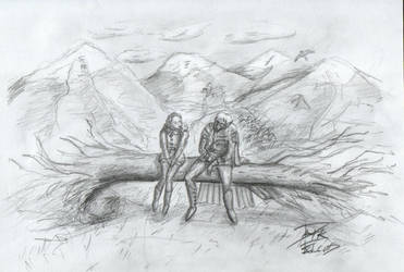Drizzt and Catti-brie by DarkFalcon-Z