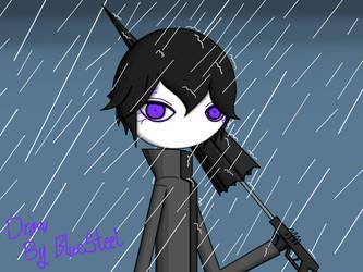 (RHG)Umbrella in rainyfield by 0222GraphicDesigner