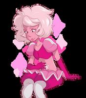 Pink Diamond Doodle by Kybitsuki