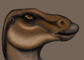 Maiasaura Portrait by squeakychewtoy