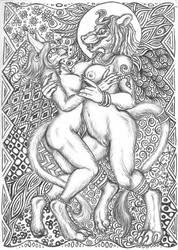 Bast and Sekhmet by squeakychewtoy