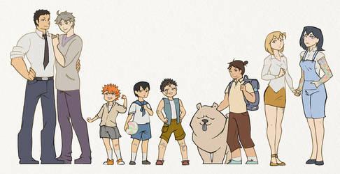 HQ Children AU by Nagissimo