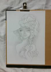 Girl with hat (Duplication / A Kawasaki) by MechantPP