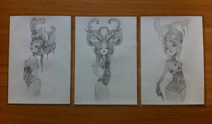 Pretty Trio (duplication / Anarkitty) by MechantPP