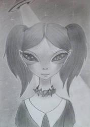 Alien Girl (duplication / A. Bagayan) by MechantPP