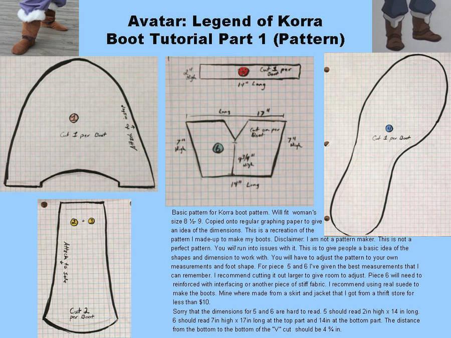 Avatar: Legend of Korra Boot Tutorial pt. 1 by ScissorWizardCosplay