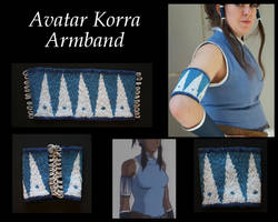 Korra Beaded Armband Finished Product by ScissorWizardCosplay