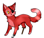 Rockstar Foxy (FFPS Collab ) by ShayminTheCuteFox