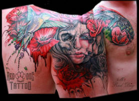 Chris tattoo finished by Reddogtattoo