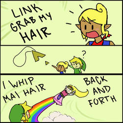 LINK GRAB MY HAIR by TunaTetrazzini