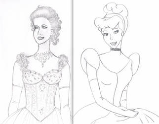 Cinderella Once Upon a Time and Disney film design by harpyvixen