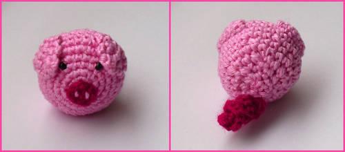 Crochet pig by Eternay
